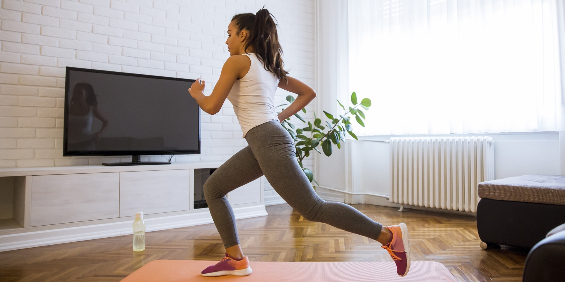 Fitness trainer at home
